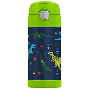 Thermos Water Bottle Dinosaurs, 12 oz- New!